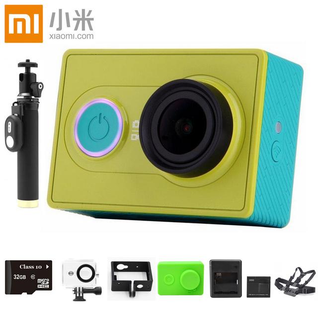 Оригинал Xiaomi yi действий камеры Xiaoyi wi-fi ми спорт 16MP 1080 P 60FPS wi-fi Ambarella Bluetooth 4.0 водонепроницаемый смарт Z23L