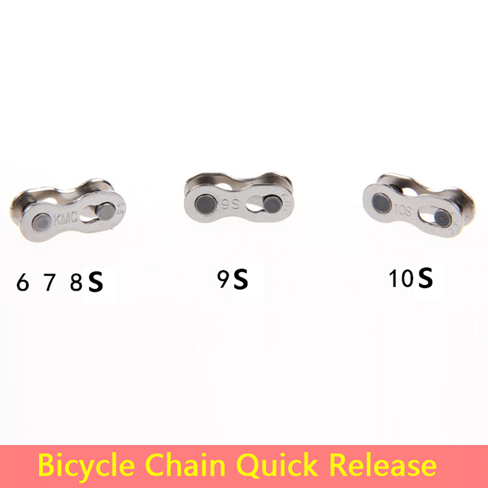Bicycle Chain Quick Release Buckle 6/7/8 9 10 Speed Magic Button Mountain Bike High Strength Fast Installation Connector(China (Mainland))