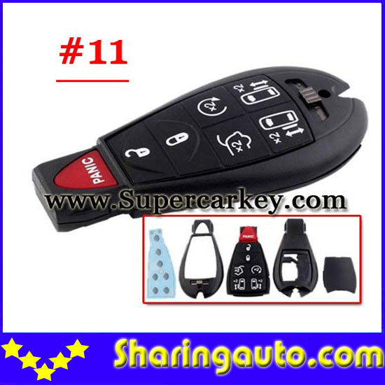 Free shipping  6+1 Button keyless remote Shell for Chrysler #11 5 piece/lot<br><br>Aliexpress
