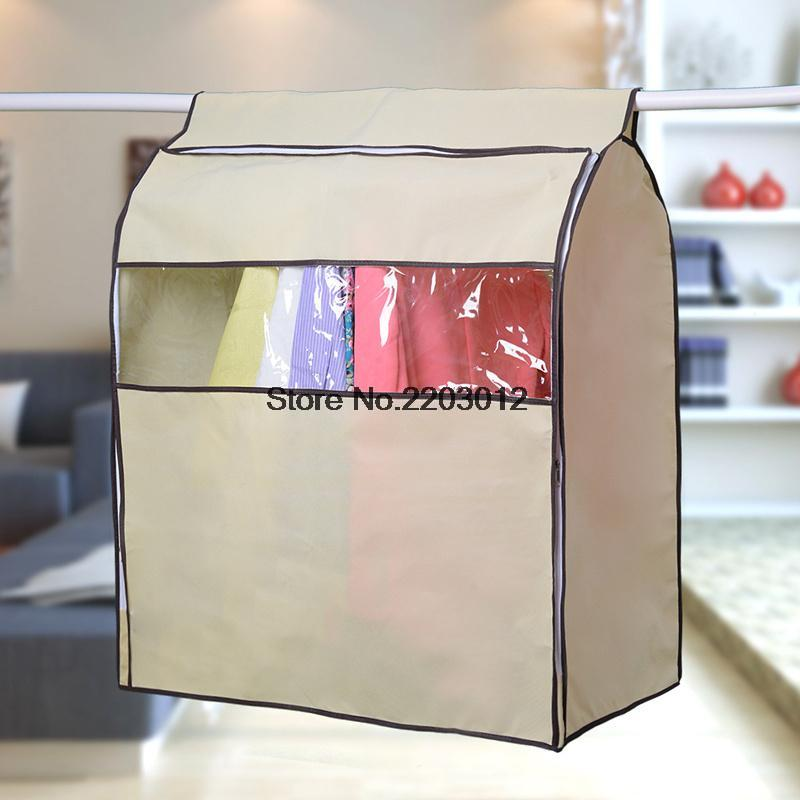 Large Clothe Hanging Garment Suit Coat Dust Cover Non woven Wardrobe Storage Bag(China (Mainland))