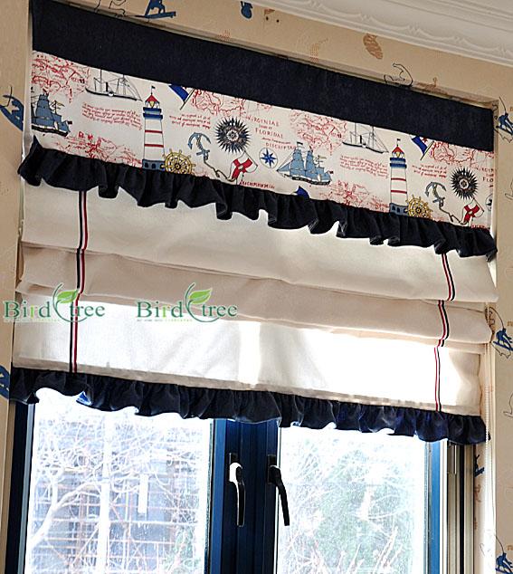 Modern Mix Match High Precision Print Roman Blinds Curtain