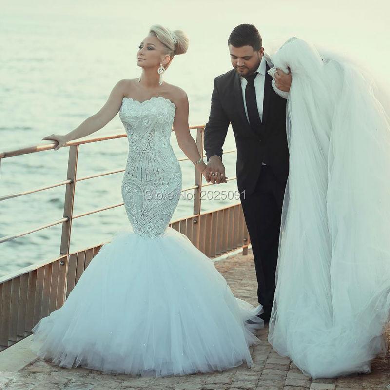 Popular Lace Diamond Mermaid Wedding Dress-Buy Cheap Lace Diamond ...