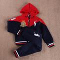 Мальчики-младенцы комплект весна / осень AM семья одежда мальчик толстовки пальто + брюки дети свободного покроя комплект дети одежда комплект