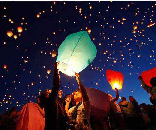 10pcs Hot Sale Multicolors Paper SKY LANTERNS Flying Paper Sky Lanterns Free Shipping(China (Mainland))