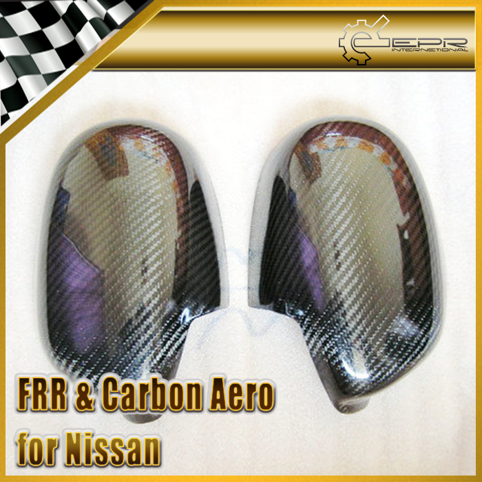 Фотография New For NISSAN 200SX S15 Silvia Carbon Fiber Side Mirror Cover Pair  Car Accessories Car Styling
