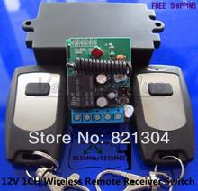 12 В 1CH беспроводная управления мгновенный рыле-переключатель 2 шт. пульт дистанционного управления 315 мГц замена гаражной двери приемник