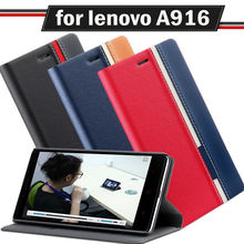 new case for lenovo a916 cover Double color classic Flip PU Leather for lenovo a916 case back cover Protective Shell