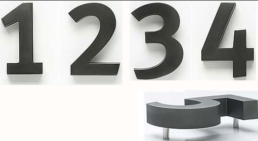 numero maison 3 Wiredrawing black gold sign letters and numbers for 3D h15cm