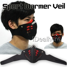 New! Neoprene Racing Motorcycle Face Dust Mask Winter Outdoor Sport Warmer Veil Free Shipping(China (Mainland))