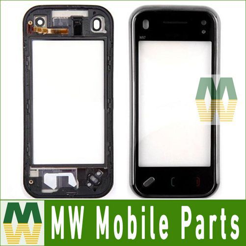 For Nokia N97 mini Touch Screen Digitizer With Frame 1PC / Lot Free Shipping Over 5 PCS 7% Discount(China (Mainland))