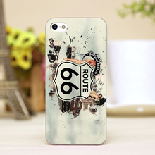 pz0008-1 Highway 66 Design Customized cellphone transparent case cover for iphone cases for iphone 4 5 5c 5s 6 6plus