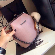 2016 New 100% Good Cattle Split Leather High Quality Shoulder Bag Chain Bag Women Bags Plus Size Handbags Hot Sale Free Shipping