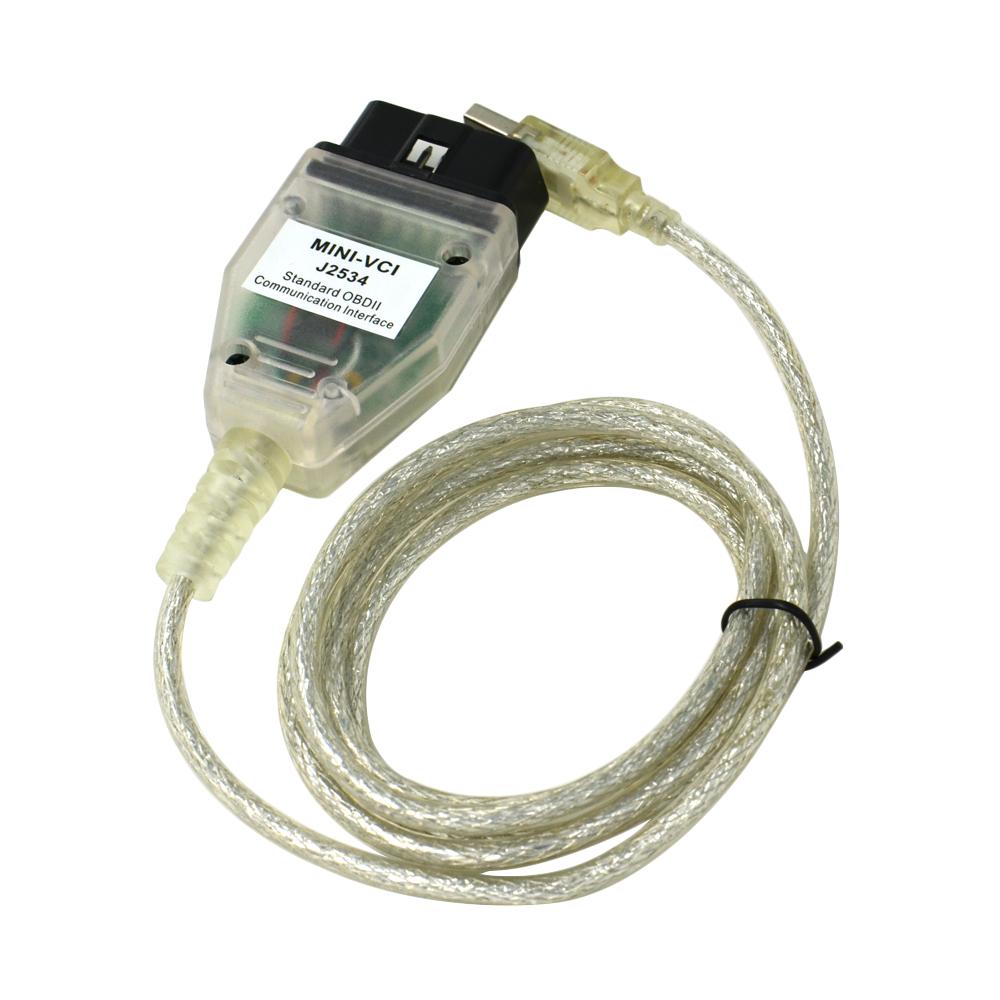 A+Quality Toyota Tis Techstream MINI VCI FOR TOYOTA TIS Techstream J2534 OBD2 Diagnostic Cable Free Shipping(China (Mainland))