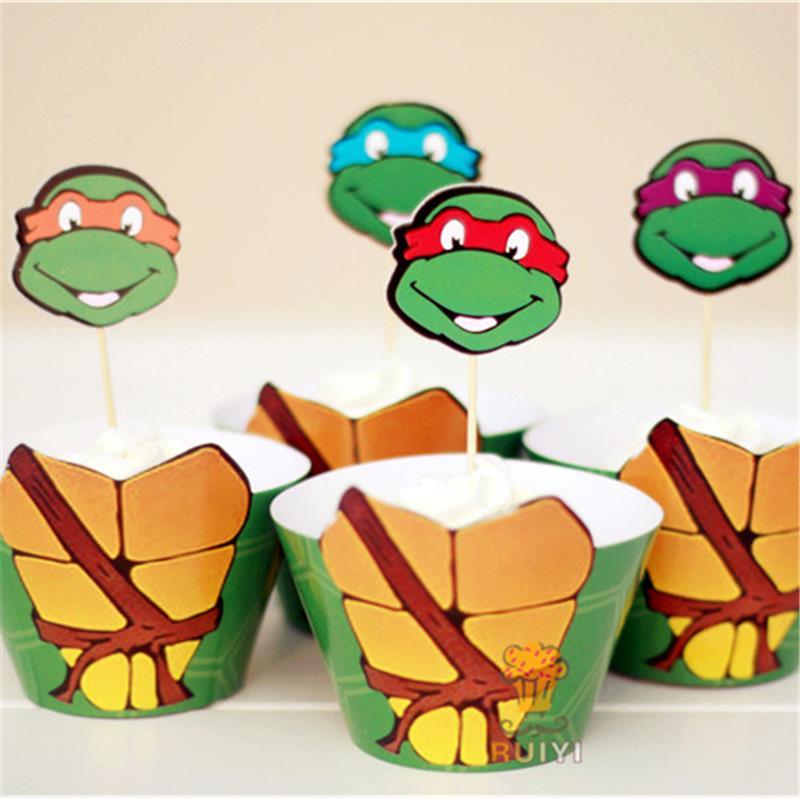 Mutant Ninja Turtles cupcake wrappers cases kids birthday party ...