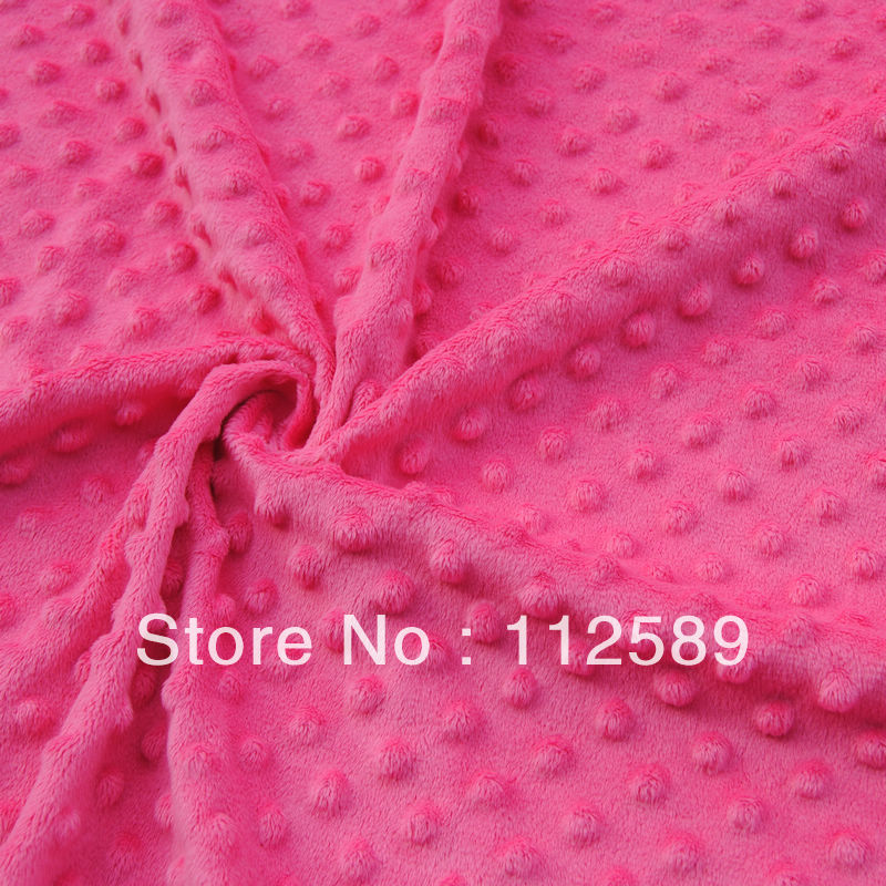 Free Shipping Minky Dot Fabric 45cm*45cm size minimum 6pc/lot Total 22 colors could be mixed for diy baby item diaper blankets(China (Mainland))