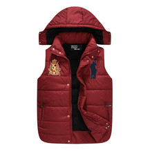 Autumn and winter male down POLO vest waistcoat lovers design casual Cotton-padded jacket coat  men outerwear vest XXL (China (Mainland))