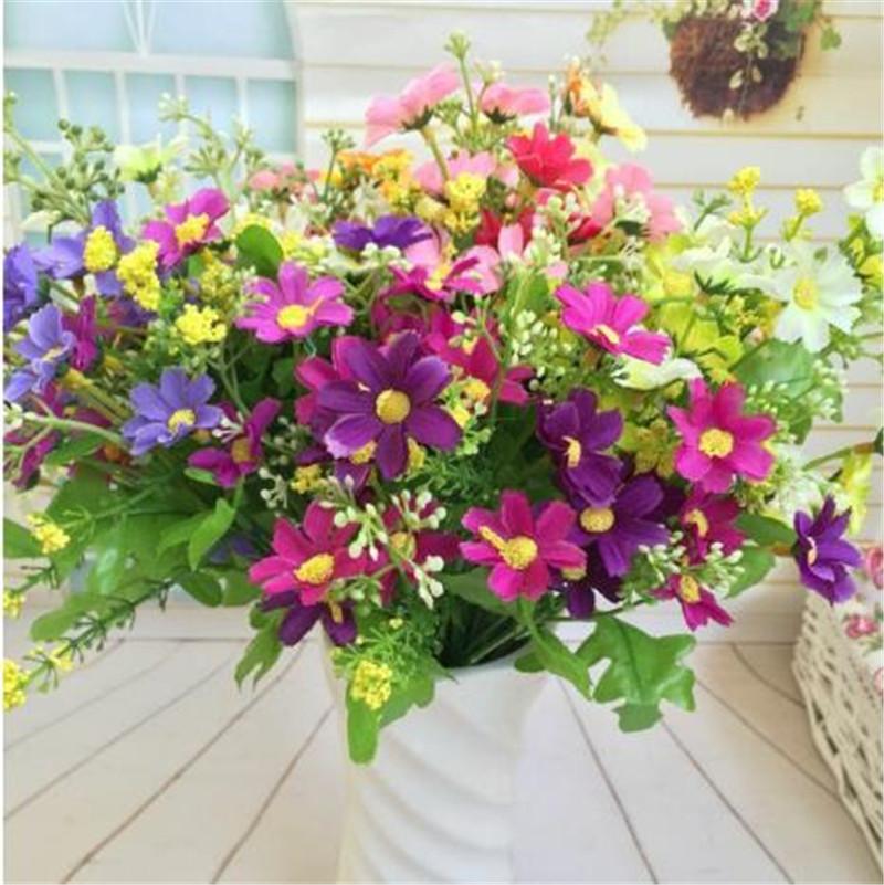 t tes de fleurs de soie artificielle faux fleur orchid bouquet de soir e de mariage jardin. Black Bedroom Furniture Sets. Home Design Ideas