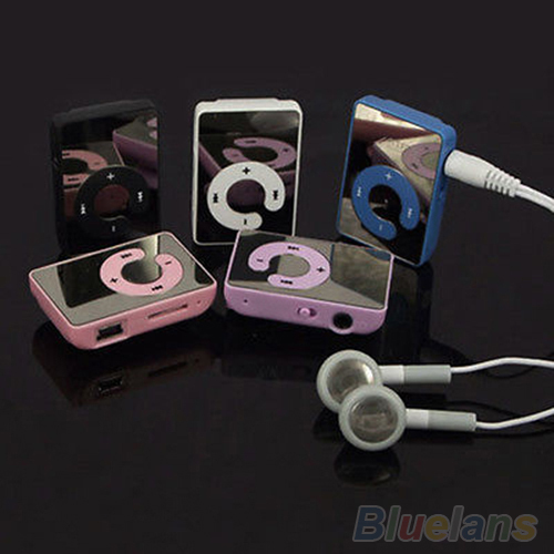 Mini Clip USB MP3 Music Media Player Support 1-8GB Micro SD TF + Headphone + Cable 2LO4(China (Mainland))