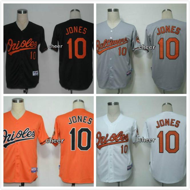 Adam Jones Jersey #10 Baltimore Orioles Jersey Orange White Black Gray Baseball Jerseys Stitched Free Shipping<br><br>Aliexpress