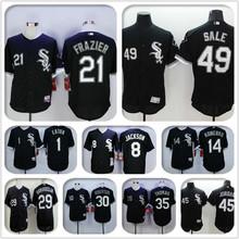 2016 Chicagos #21 Todd Frazier baseball jersey Elite black shirt #29 Jeff Samardzija #49 Chris Sale color white stitched jersey(China (Mainland))