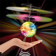 Modern Flying RC Ball Infrared Induction Mini Aircraft Flashing Light Remote Toys For Kids Mar30(China (Mainland))