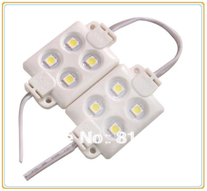 Led Rope Light Adhesive: ABS Plastic 4 Pieces 5050 SMD LED Module Light LED Light