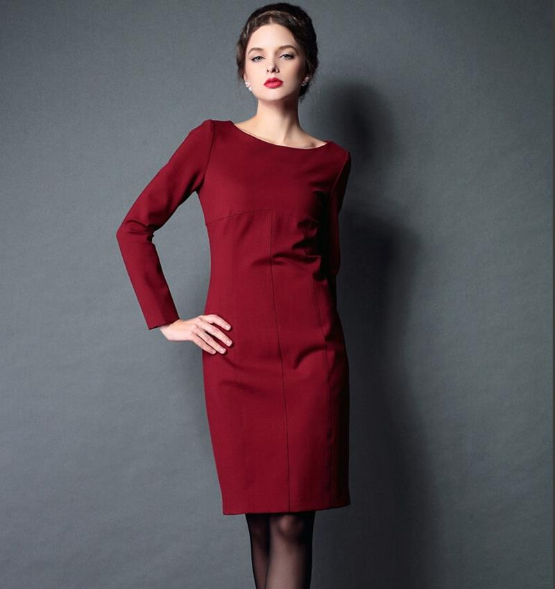 2015 new Brand high quality Autumn winter base Sexy Slim package hip long Sleeve Inner black Thick Dress big yards Women dressesОдежда и ак�е��уары<br><br><br>Aliexpress