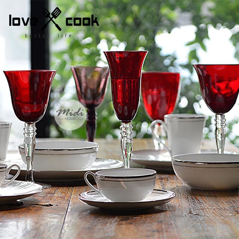 Red Unleaded Glass Red Wine Goblet Wine Glass Fashion spirit Cup Champagne Cup Hanap Wine Cup Drinkware Bar Tools(China (Mainland))