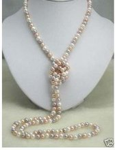 elegant Artini SWEATER natural 3 color pearl necklace AKOYA Free shipping(China (Mainland))