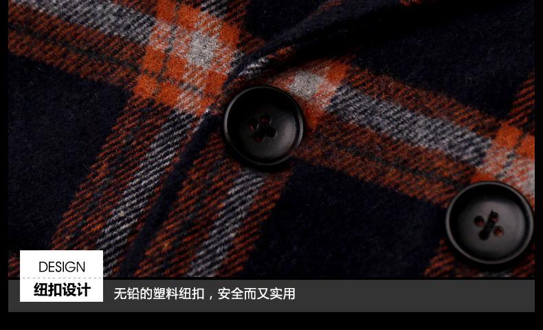 Скидки на Новые дети стиль марка школа пальто для мальчика 4-14 лет дети Мальчики качества Зимней одежды дети плед шерстяной пальто 26247A