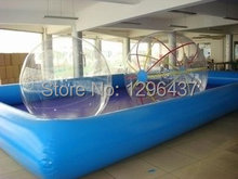 Inflatable water pool with water walking ball for sales(China (Mainland))