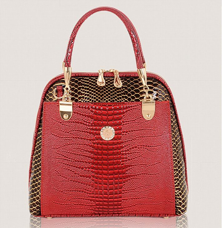 New fashion crocodile style hangbag for women PU leather bag women's shoulder bags women's handbags high quality bolsas pouch(China (Mainland))