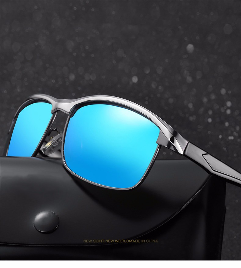 OOBON 2017 Newest Sunglasses Polarized Lens Men Sun Glasses Mirror Male Driving Fishing Outdoor Eyewears Accessories A379