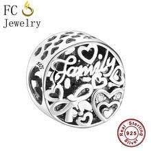 Fc jóias se encaixa pandora encantos pulseiras 925 sterling estilo praia abacaxi vinho vidro animal kralen pingente grânulos berloque(China)