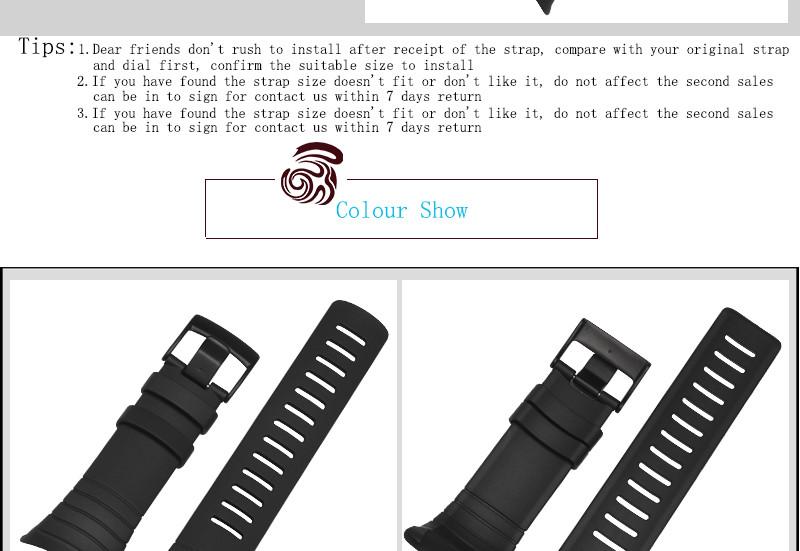 Для Suunto CORE Высокое Качество Силиконовой Резины Ремешок Для Часов Черный Спорт Типы Waterpoot Часы аксессуары Применяются Suunto Китай выпустил