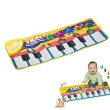 2016 New Multifunction Baby Play Crawling Mat Touch Type Electronic Piano Music Game Mats Animal Sounds Sings Toys for Kids Gift(China (Mainland))