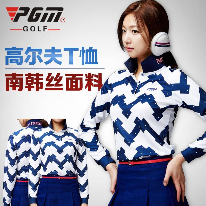 PGM golf sports shirts women long sleeved female T shirt for winter Golf ball dress shirt freeshipping(China (Mainland))