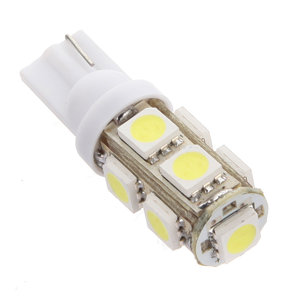 1Pcs Best Price T10 194 168 W5W 9 LED 5050 SMD White Car Auto Wedge Side Tail Parking Lights Bulb Lamp DC12V(China (Mainland))