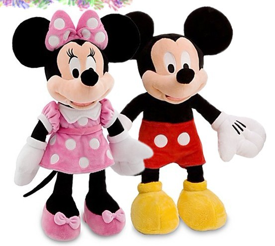 2pcs/lot American limited edition Minnie Mouse Mickey mouse Bowtique Collection Stuffed animals plush Toys,red or Pink set(China (Mainland))