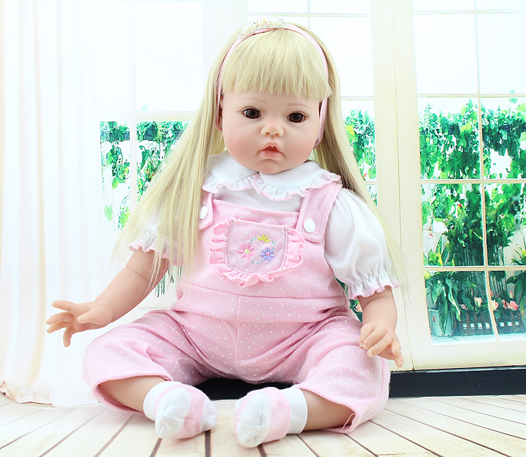 Handmade Baby Toy 20inch Realistic Soft Silicone Reborn Babies Doll Newborn Baby Face Girls Gift Toy