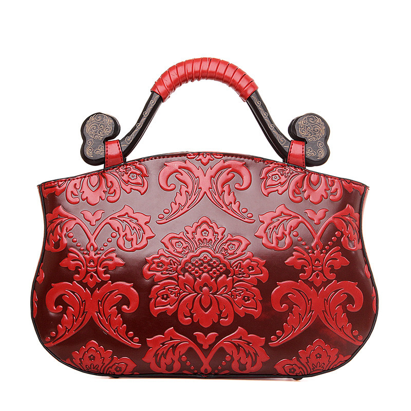 2016 women Fashion vintage Floral Embossed Handbags Famous designers brand Shoulder hand Bags female leather Totes 676<br><br>Aliexpress