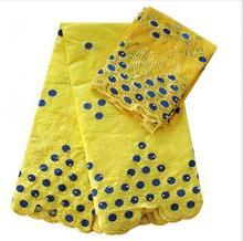 Ourwin высокого качества Женская блузка белого цвета розового золота африканские ткани парчи Базен Riche Getzner с 2 ярдов свадебная ткань(China)