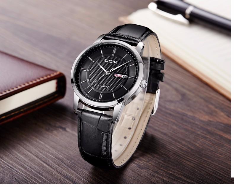 Дом 2016 мужчин часы мода личности кварцевые часы кожаный пояс старинные простой свободного покроя водонепроницаемый наручные часы