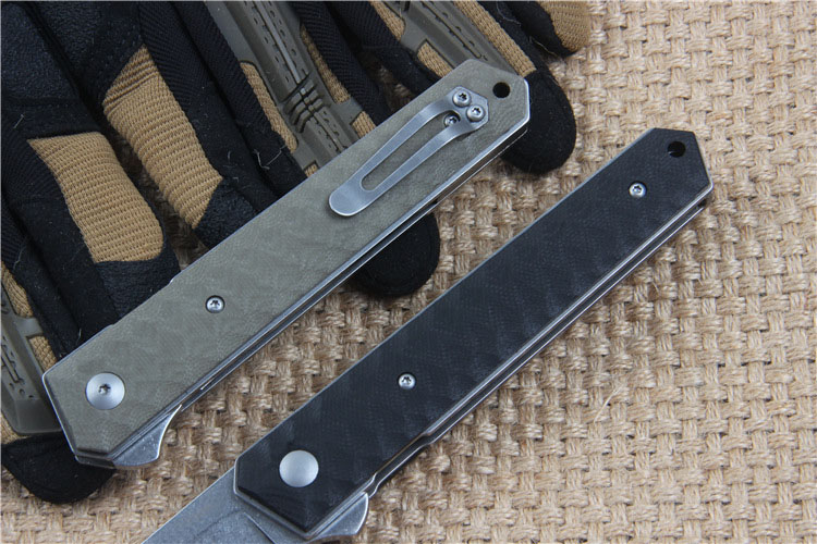 Buy High Quality VG-10 blade G10 handle 2 colors folding knife outdoor camping survival tool tactical pocket EDC knives cheap