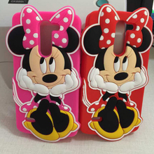Fashion 3D Cartoon Sit Minnie Mouse Soft Silicone Cover Case LG G3 Stylus D690 - Wynn yi's store