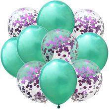 10 шт./компл. цвета розового золота синий цвета: зеленый, воздушные шары на день рождения/воздушные шары конфетти воздушные шары День рождени...(China)