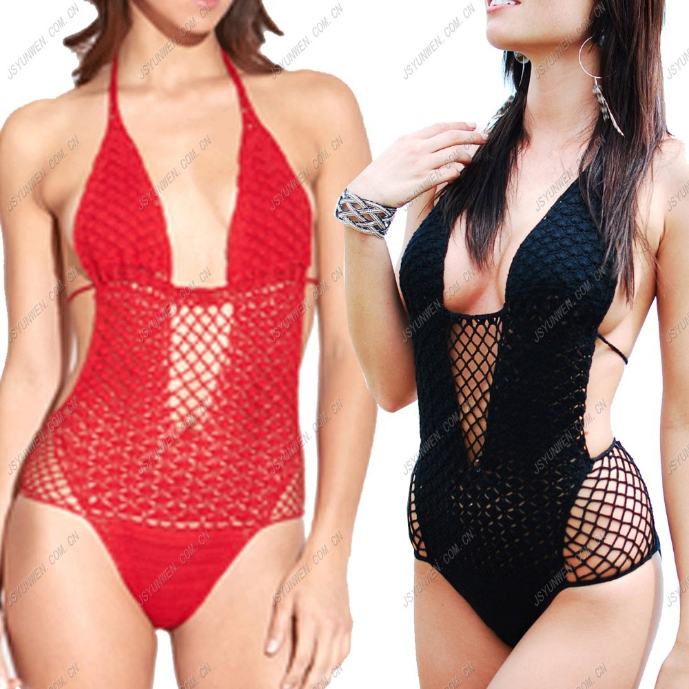 hand-crocheted angel pineapple piece swimsuit, Factory price, wholesale, Excellent quality, colored with available(China (Mainland))