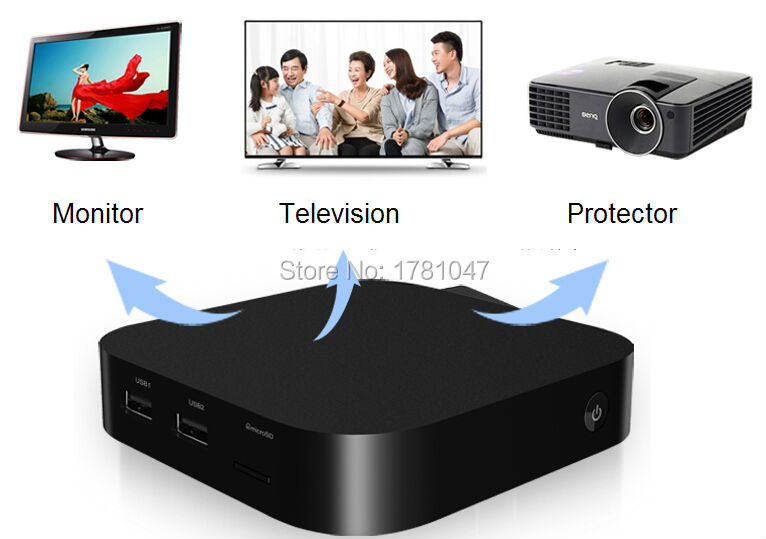 Здесь можно купить  TV box has dual OS window and Android,1.83GHz HD Graphic 2GB/32GB Windows 8.1  wifi Bluetooth Wintel intel atom mini pc tv box   Бытовая электроника
