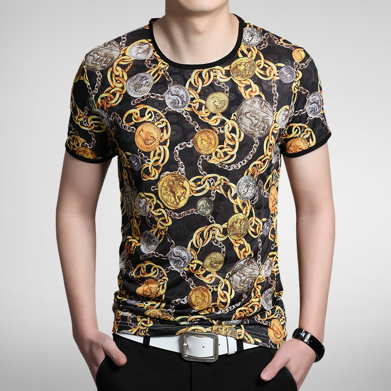 Male short sleeve t shirt 2013 men s clothing summer short for Luxury t shirt printing