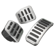 Brand New 3Pcs/Set Universal Stainless Steel MT Pedal Pads For VW Polo For Jetta MK4 For Bora Golf MK4 High Quality(China (Mainland))